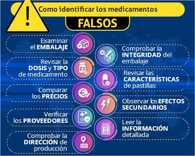 Como identificar los medicamentos falsificados